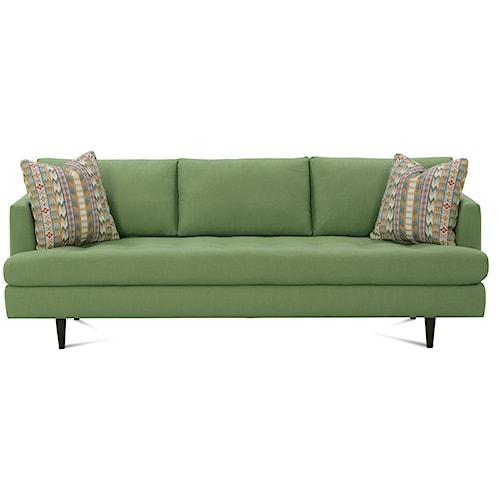 Rowe Theo 91 Inch Track Arm Modern Sofa