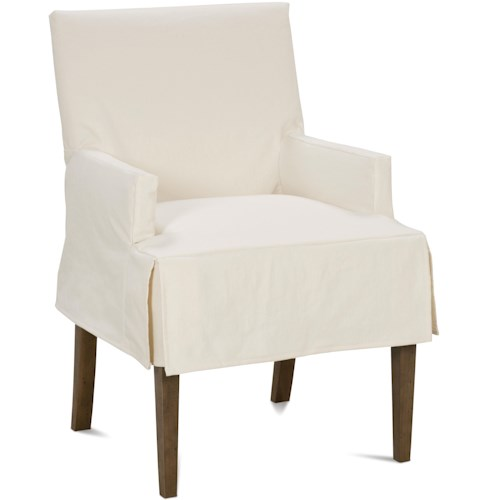 Rowe Tobi Casual Upholstered Dining Chair with Tapered Feet