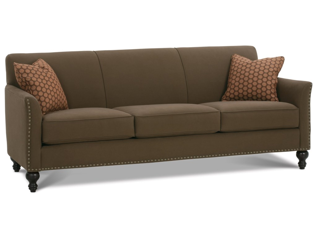 Shown with 3/3 Cushion, Turned Legs, and Nailhead Trim