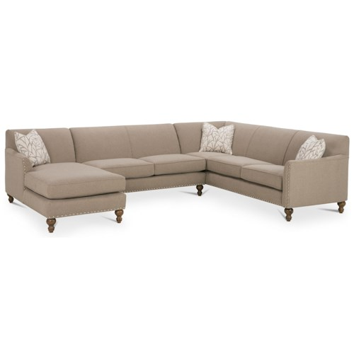 Rowe Varick-RXO <b>Customizable</b> 3 Piece Sectional Sofa w/ RAF Chaise