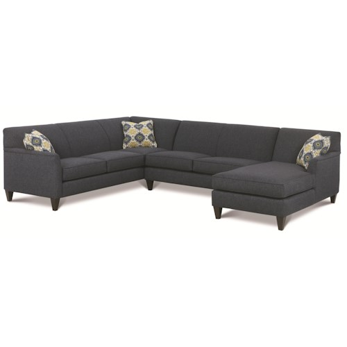 Rowe Varick-RXO <b>Customizable</b> 3 Piece Sectional Sofa w/ LAF Chaise