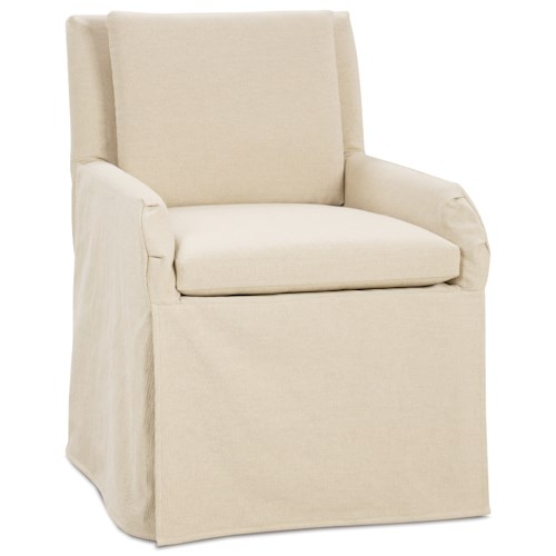 Rowe Vera Casual Upholstered Dining Chair with Slip Cover Skirt