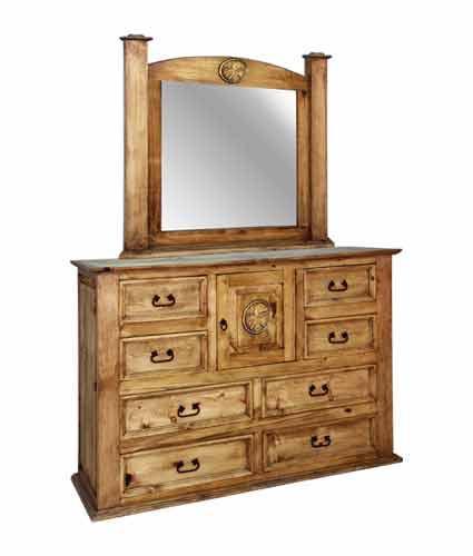 Rustic Specialists Texas Star Texas Star Dresser/Mirror