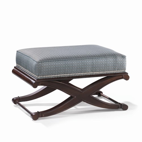 Sam Moore Andre  Bench with Nail Head Trim