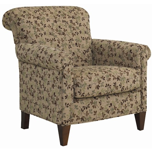 Sam Moore Bagley Upholstered Club Chair with Rolled Arms