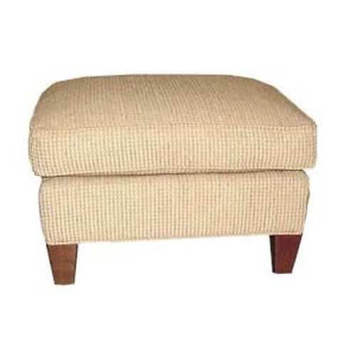 Sam Moore Bagley Ottoman with Exposed Wood Legs