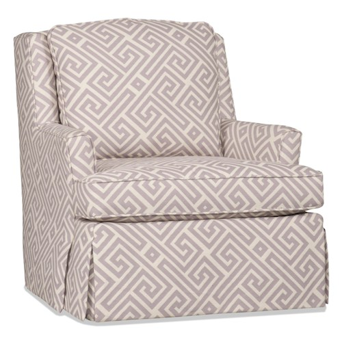 Sam Moore Bailey Casual Skirted Swivel Gliding Chair