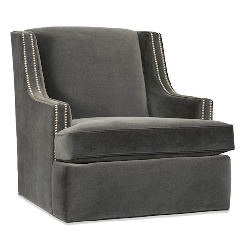Sam Moore Beckley Contemporary Swivel Glider with Slender Track Arms