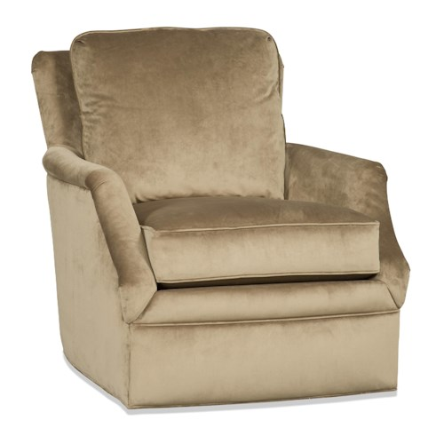 Sam Moore Bridgette Transitional Swivel Glider Chair with Flared Arms