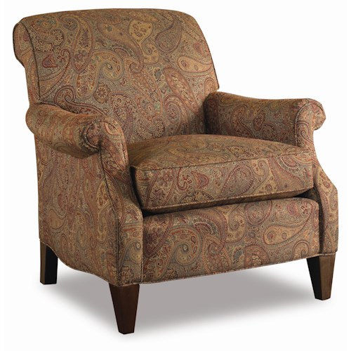 Sam Moore Brunswick  Rolled Arm Club Chair