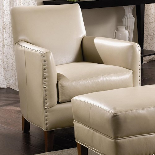 Sam Moore Calvin Club Chair with Nailhead Trim