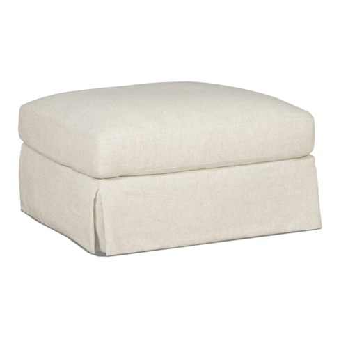 Sam Moore Carson Traditional Skirted Ottoman