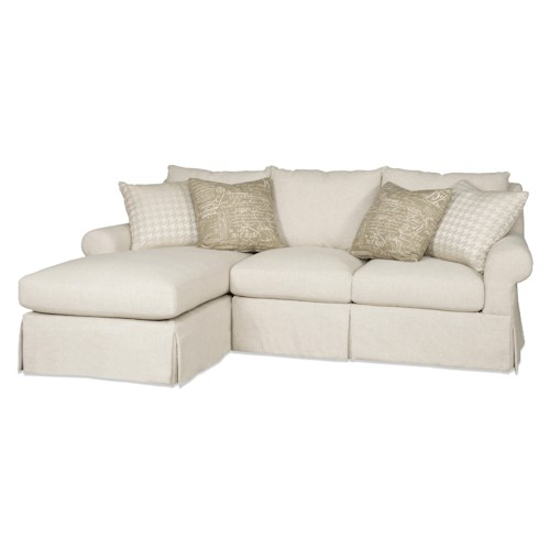 Sam Moore Carson Two Piece Sectional Sofa with RAF Chaise
