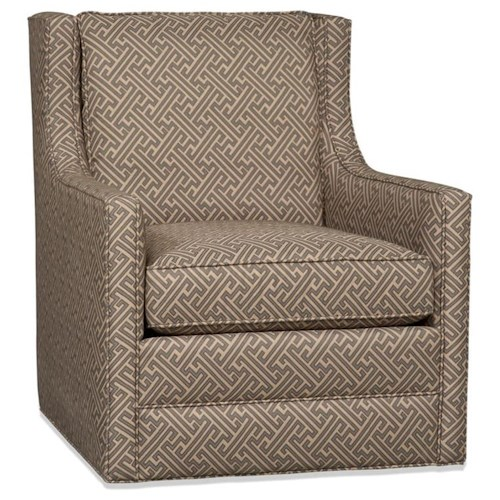Sam Moore Cedric Contemporary Swivel Chair
