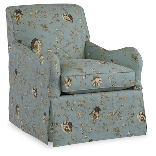 Sam Moore Ceira Traditional Club Chair with Waterfall Skirt