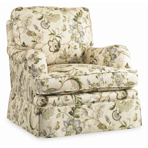 Sam Moore Claremont  Skirted Swivel Glide Chair