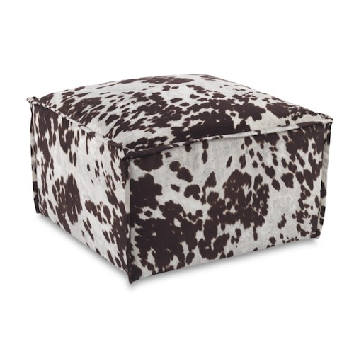 Sam Moore Cypris Casual Square Cocktail Ottoman with Welt Trim