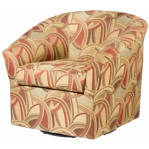 Sam Moore Edgar Swivel Chair with Flared Arms