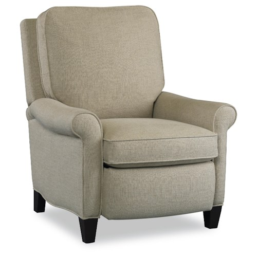 Sam Moore Eleni Traditional Hi-Leg Reclining Chair with Rolled Arms