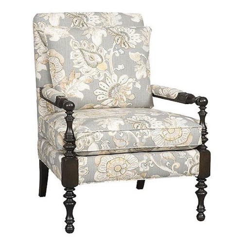 Sam Moore Emelia Traditional Exposed Wood Chair with Spindle Turned Detail