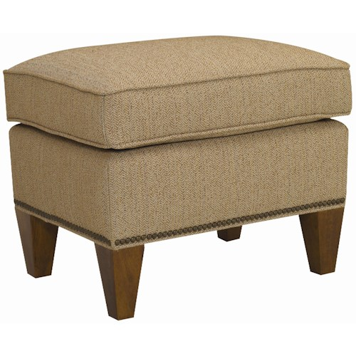 Sam Moore Harvard Ottoman with Nail Head Trim