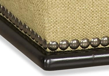 Comes Standard with Brass Nailheads, Alternate Nailhead Colors and No-Nailhead Option Are Also Available