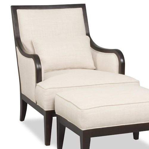 Sam Moore Kyrie Contemporary Exposed Wood Chair with English Arms