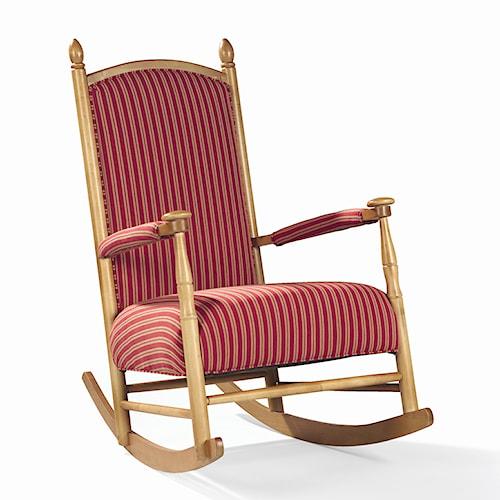 Sam Moore Lancaster Upholstered Wooden Shaker Rocker