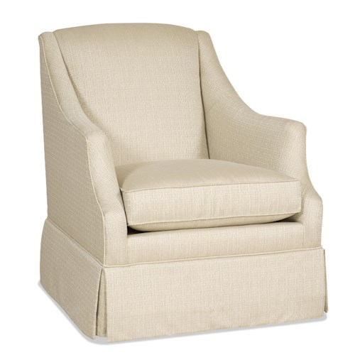 Sam Moore Lark Transitional Skirted Swivel Glider