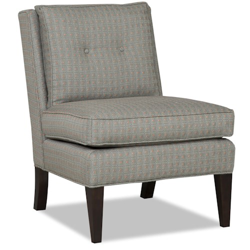 Sam Moore Lyric Contemporary Accent Armless Chair with Tapered Block Legs