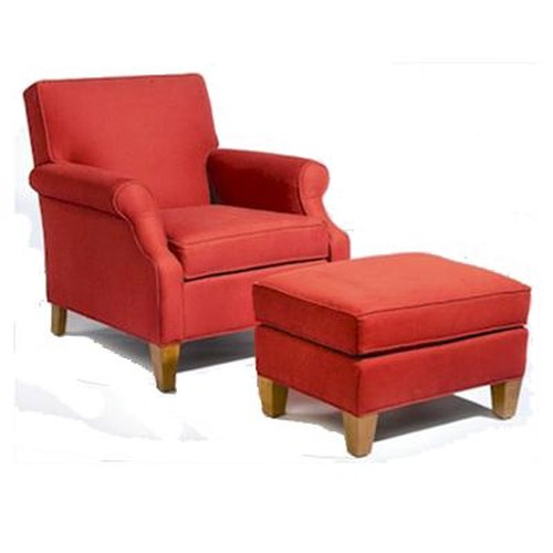 Sam Moore Mercury Casual Chair and Ottoman