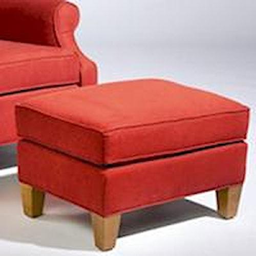 Sam Moore Mercury Square Upholstered Ottoman