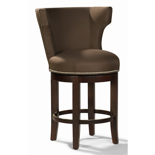 Sam Moore Monroe Armless Counter Stool with Upholstered Seat