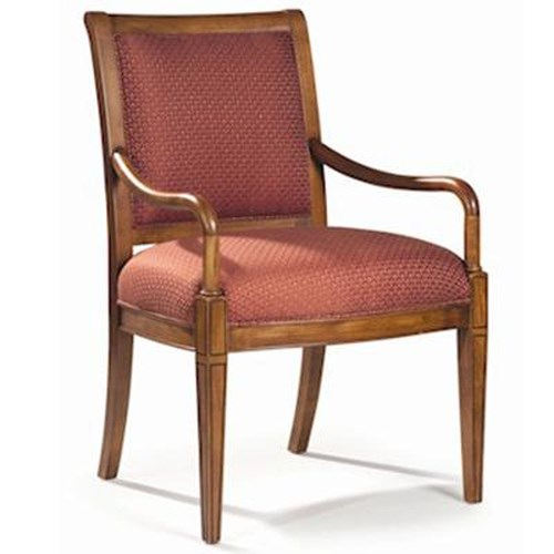 Sam Moore Nicholas Upholstered Arm Chair with Fluted Legs