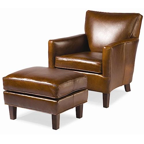 Sam Moore Nigel Club Chair with Ottoman