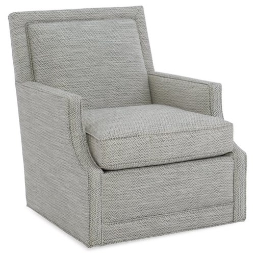 Sam Moore Phoebe Contemporary Swivel Chair
