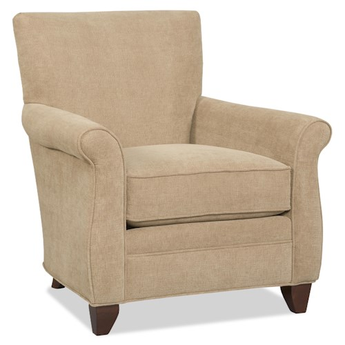 Sam Moore Phoenix Casual Club Chair with Rolled Arms