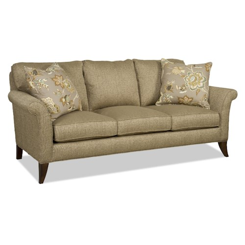 Sam Moore Quinn Transitional Three-Over-Three Sofa