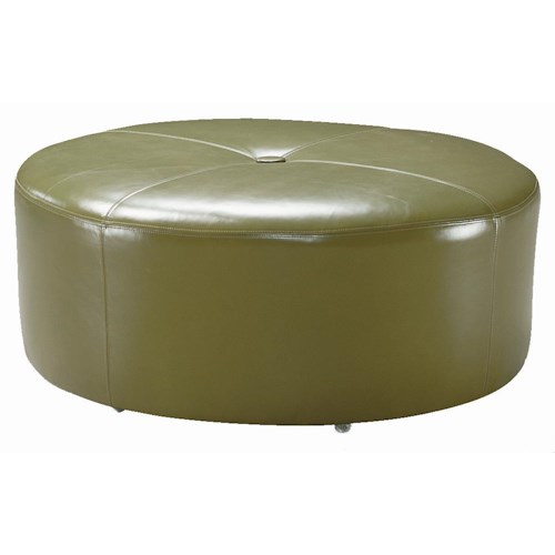 Sam Moore Renee Baseball Stitch Cocktail Ottoman