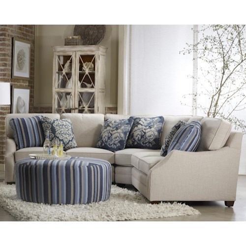 Sam Moore Rita Transitinal Three Piece Sectional Sofa