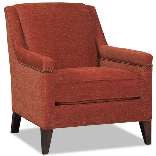 Sam Moore Sergei Contemporary Club Chair With Nailhead Trim