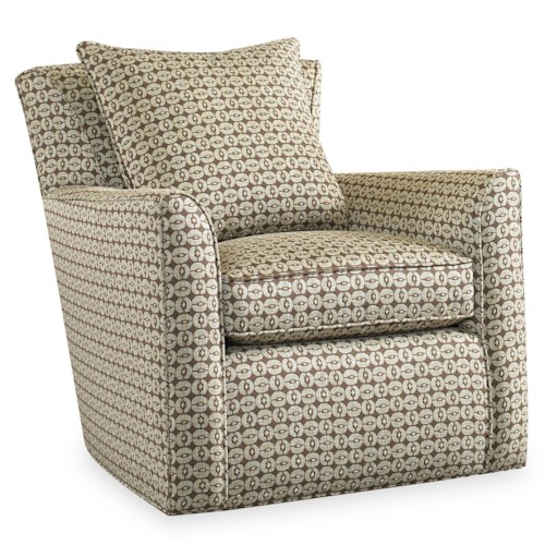 Sam Moore Silas Contemporary Swivel Chair with Flair Tapered Arms and Welt Cords
