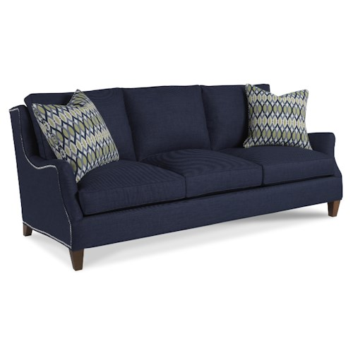 Sam Moore Tansy Contemporary Three Seater Sofa with Flair Tapered Arms