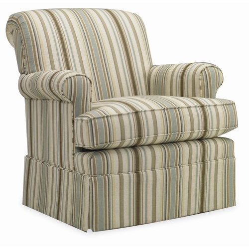 Sam Moore Thames Skirted Swivel Glide Chair