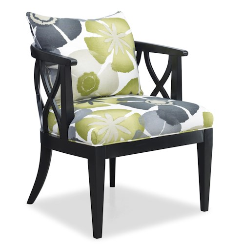 Sam Moore Verona Contemporary X Lattice Chair with Loose Pillow Back