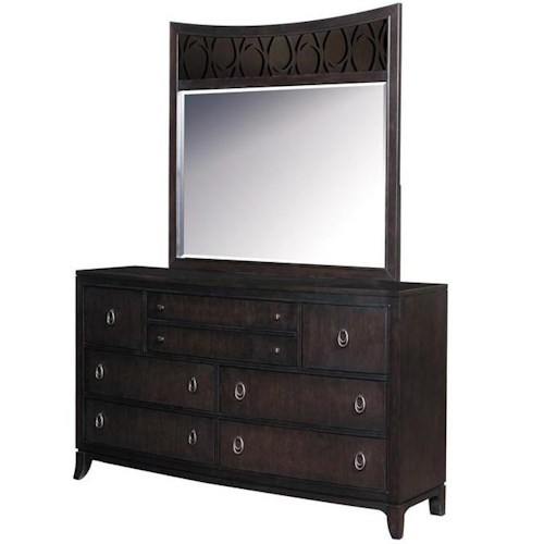 Samuel Lawrence Aura Dresser with 8 Drawers and Mirror