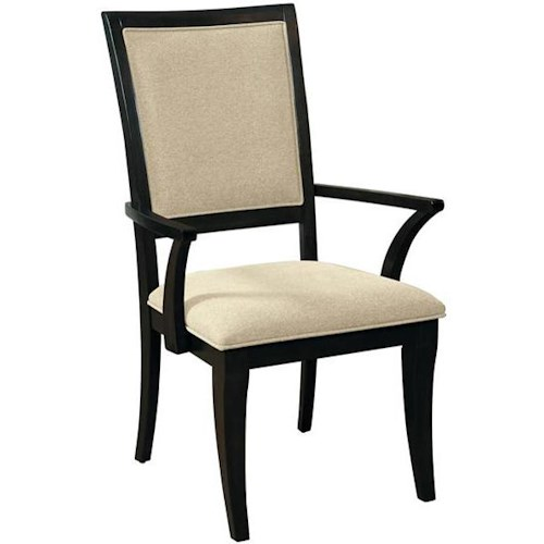 Samuel Lawrence Aura Dining Arm Chair with Tapered Legs