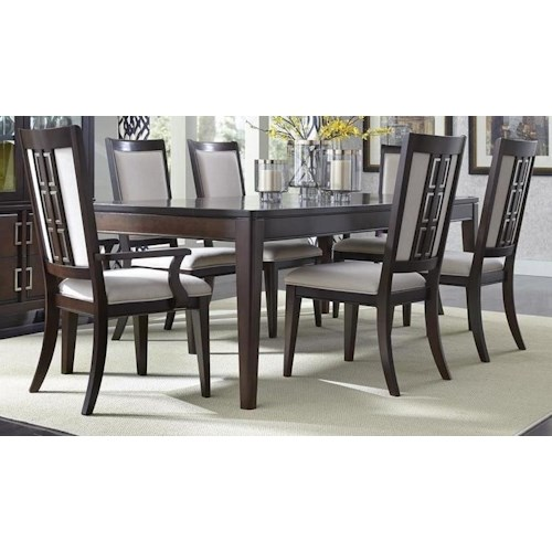 Morris Home Furnishings Binghamton 5-Piece Dining Set includes Table and 4 Side Chairs