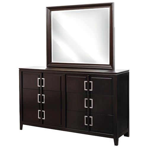 Samuel Lawrence Brighton Contemporary Drawer Dresser & Mirror Set