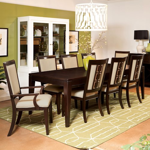 Samuel Lawrence Brighton 9-Piece Contemporary Dining Table Set